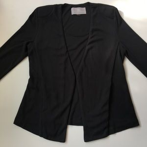 Tart Black Olga Blazer with Ruched Sleeve